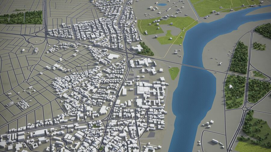 Mosul - Stadt und Umgebung royalty-free 3d model - Preview no. 7