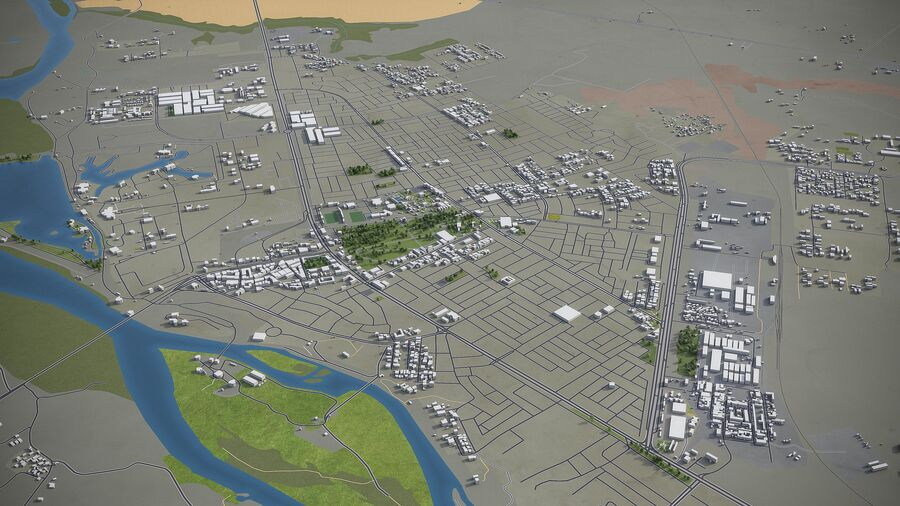 Tikrit - ville et environs royalty-free 3d model - Preview no. 5