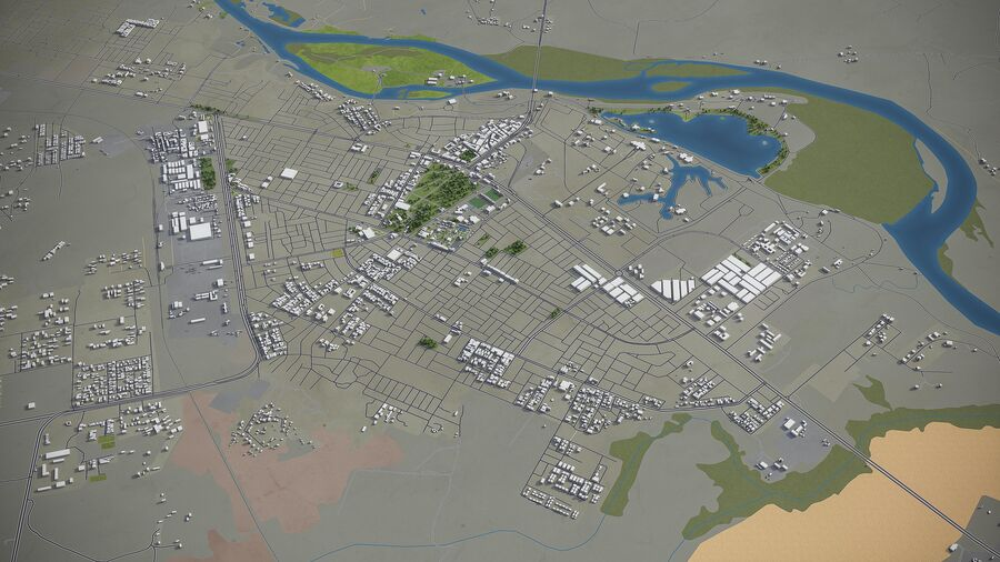 Tikrit - ville et environs royalty-free 3d model - Preview no. 3
