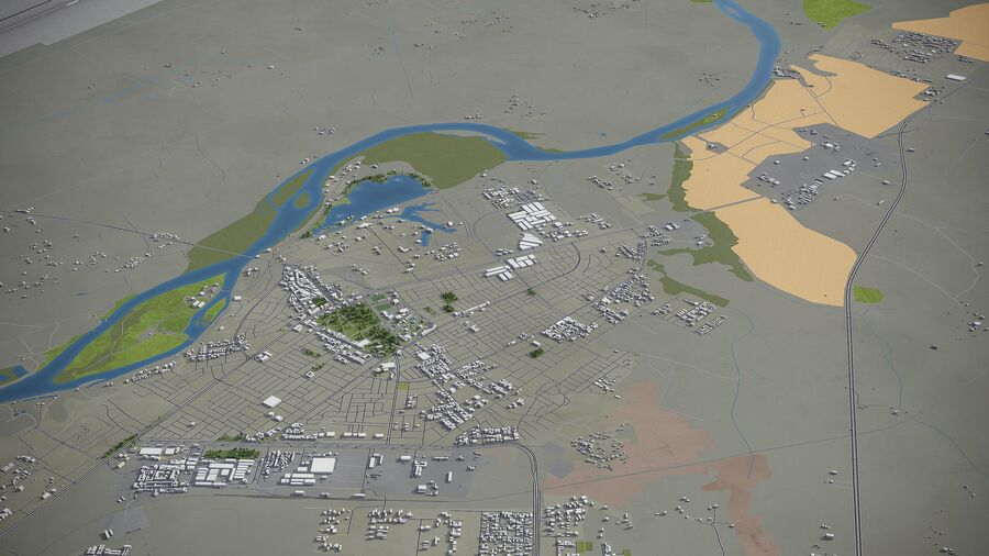 Tikrit - ville et environs royalty-free 3d model - Preview no. 4