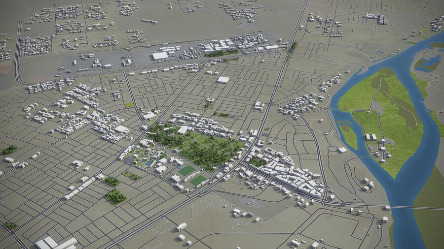 Tikrit - ville et environs royalty-free 3d model - Preview no. 7