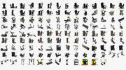 125 моделей тренажерных залов, полный комплект, TechnoGym: кардио - сила - свободный вес - инструменты для фитнеса 3d model