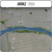 Ahvaz - Stadt und Umgebung 3d model
