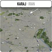 Karaj - ville et environs 3d model