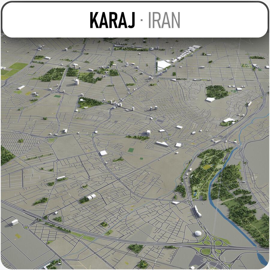 Karaj - ville et environs royalty-free 3d model - Preview no. 1