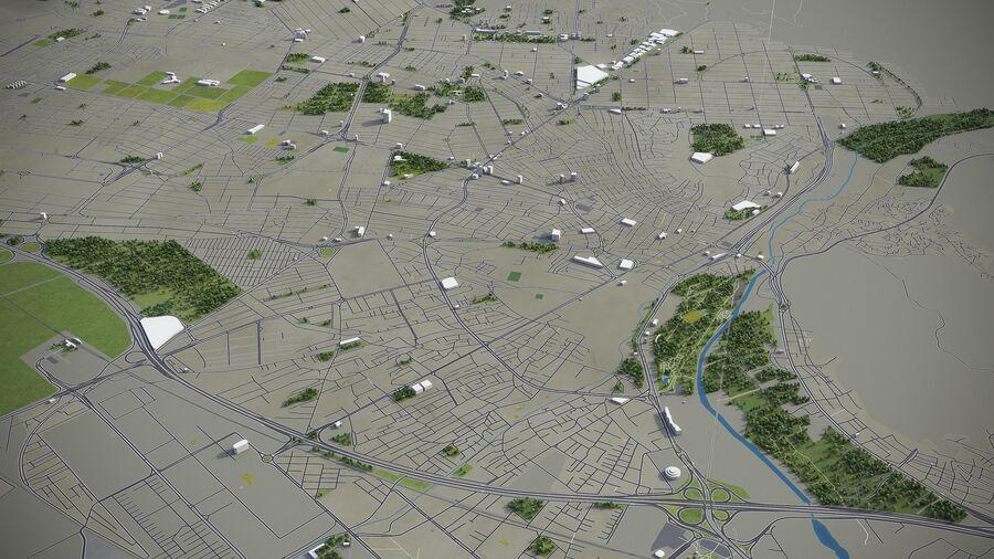 Karaj - ville et environs royalty-free 3d model - Preview no. 3