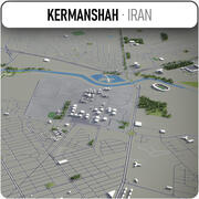 Kermanshah - stad en omgeving 3d model