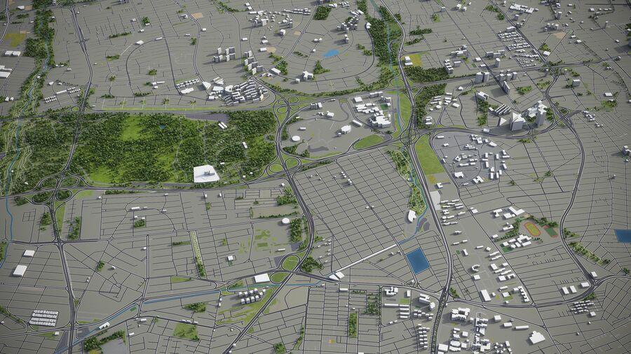 Téhéran - ville et environs royalty-free 3d model - Preview no. 2