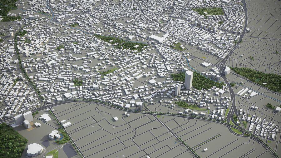 Téhéran - ville et environs royalty-free 3d model - Preview no. 7