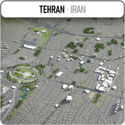 Teheran - Stadt und Umgebung 3d model