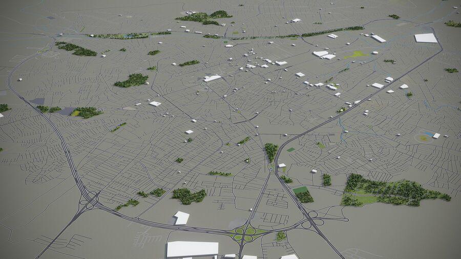 Urmia - Stadt und Umgebung royalty-free 3d model - Preview no. 6