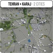 Téhéran - Karaj - ville et environs 3d model