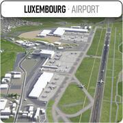 Luxemburg Flughafen - LUX 3d model