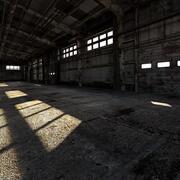 Old rusty industrial interior 3D model 3d model