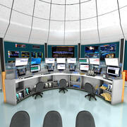 Mission Control Center 3d model