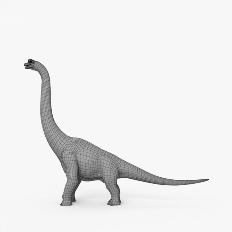 Brachiosaurus HD royalty-free 3d model - Preview no. 7