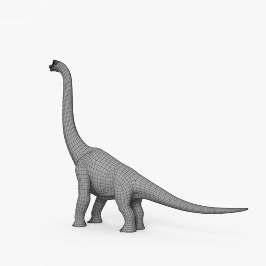 Brachiosaurus HD royalty-free 3d model - Preview no. 3