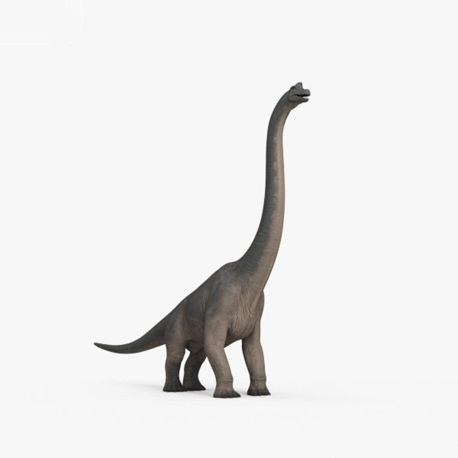 Brachiosaurus HD royalty-free 3d model - Preview no. 10