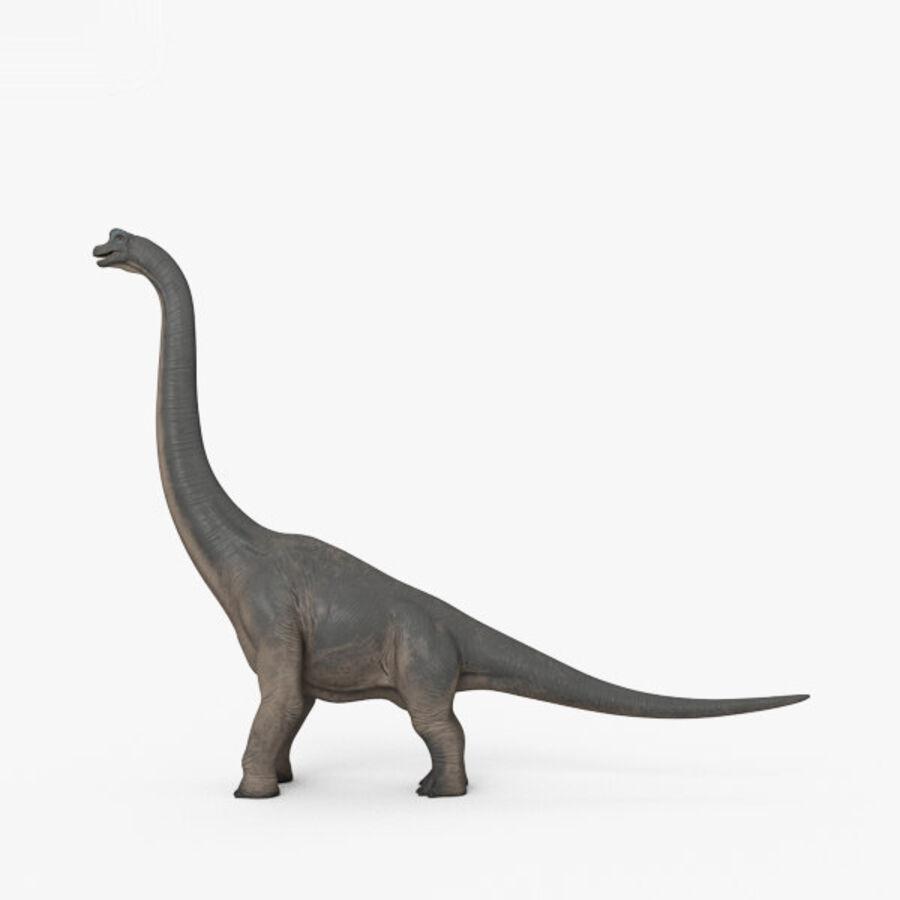 Brachiosaurus HD royalty-free 3d model - Preview no. 6
