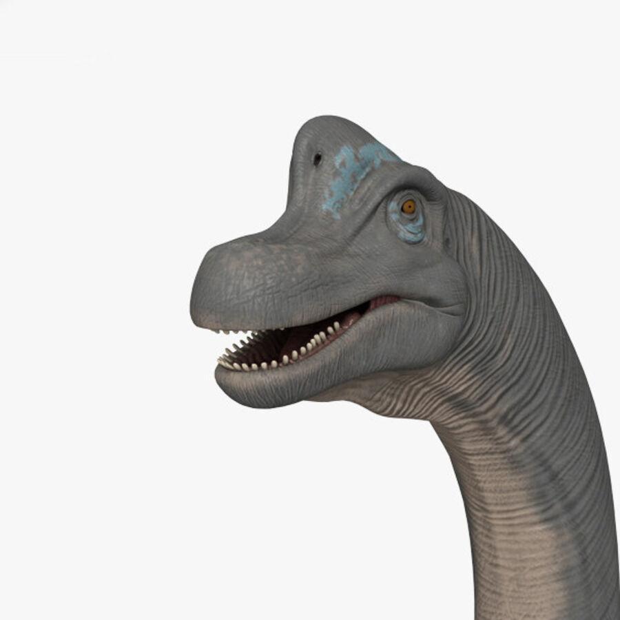 Brachiosaurus HD royalty-free 3d model - Preview no. 4