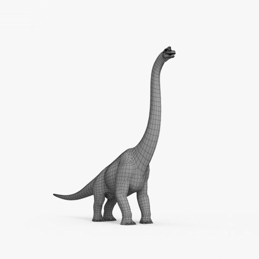 Brachiosaurus HD royalty-free 3d model - Preview no. 11