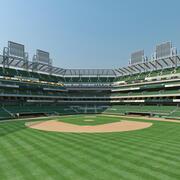 Estádio de Bsebal e meio ambiente 3d model