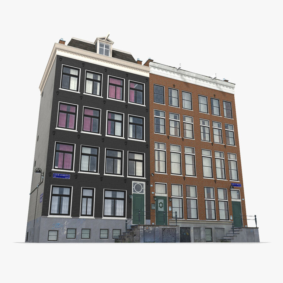 Amsterdam Street royalty-free 3d model - Preview no. 18