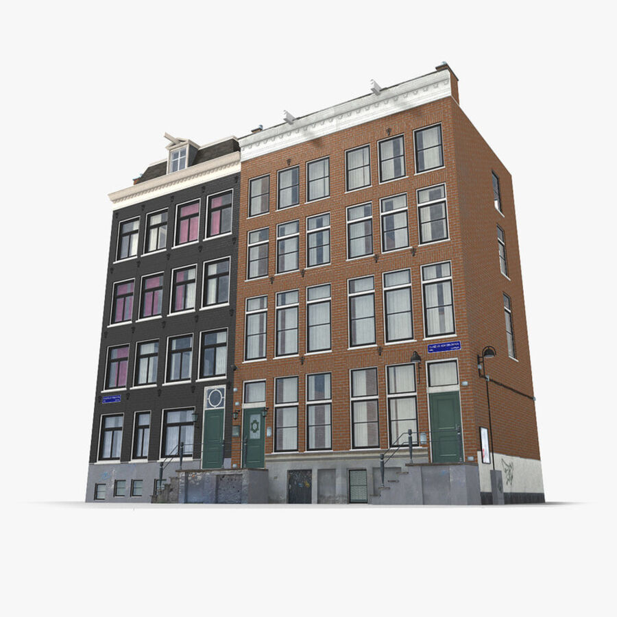 Amsterdam Street royalty-free 3d model - Preview no. 12