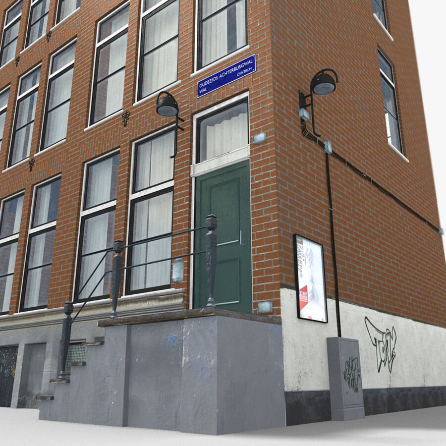 Amsterdam Street royalty-free 3d model - Preview no. 13