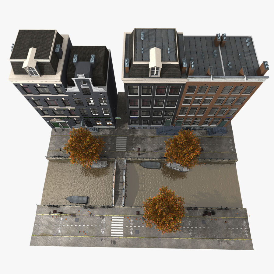 Amsterdam Street royalty-free 3d model - Preview no. 6