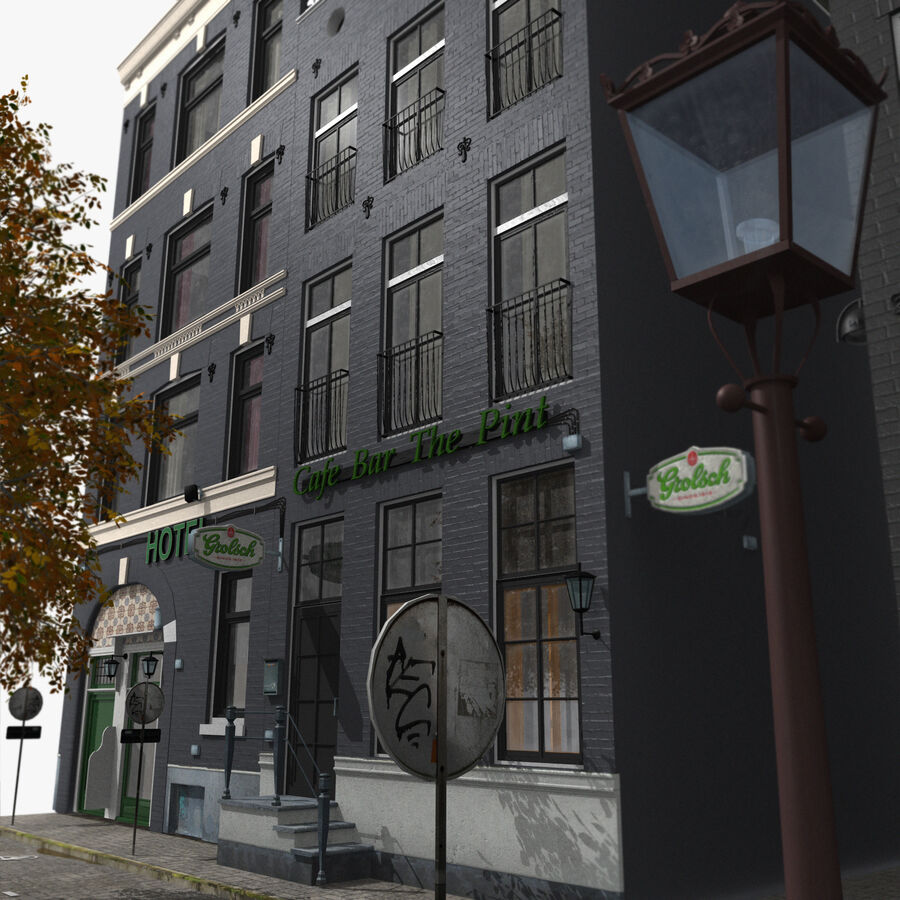Amsterdam Street royalty-free 3d model - Preview no. 8