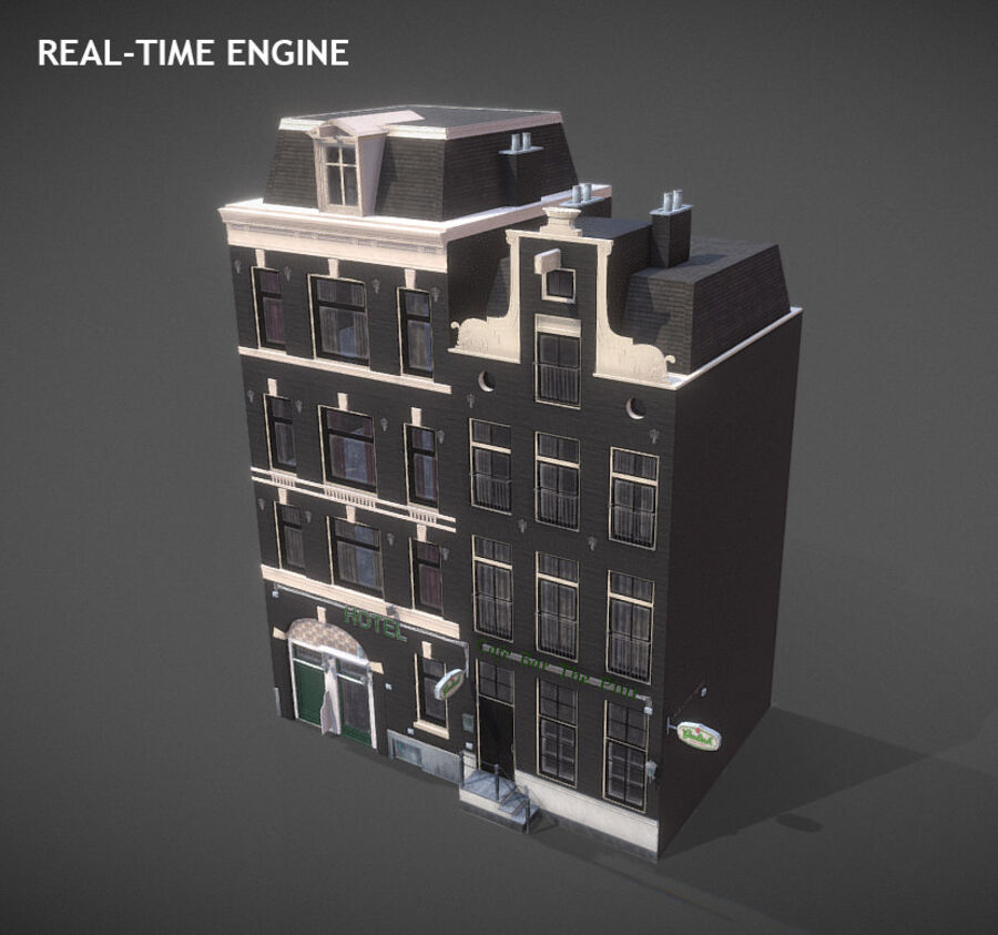 Amsterdam Street royalty-free 3d model - Preview no. 11
