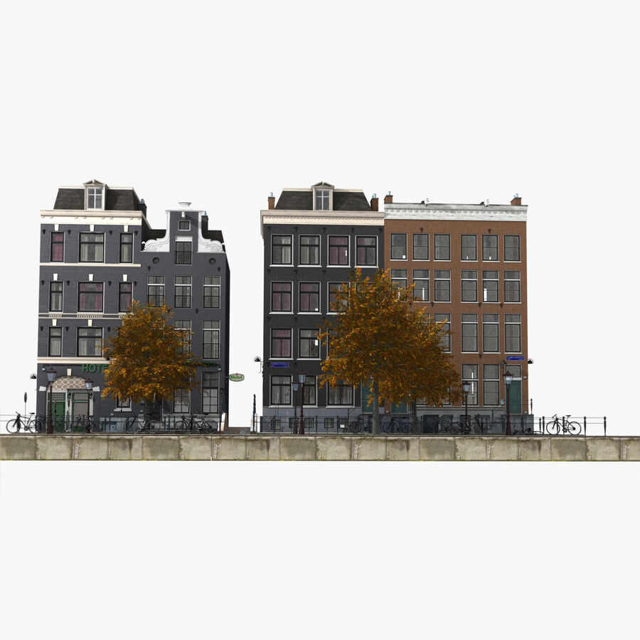Amsterdam Street royalty-free 3d model - Preview no. 3