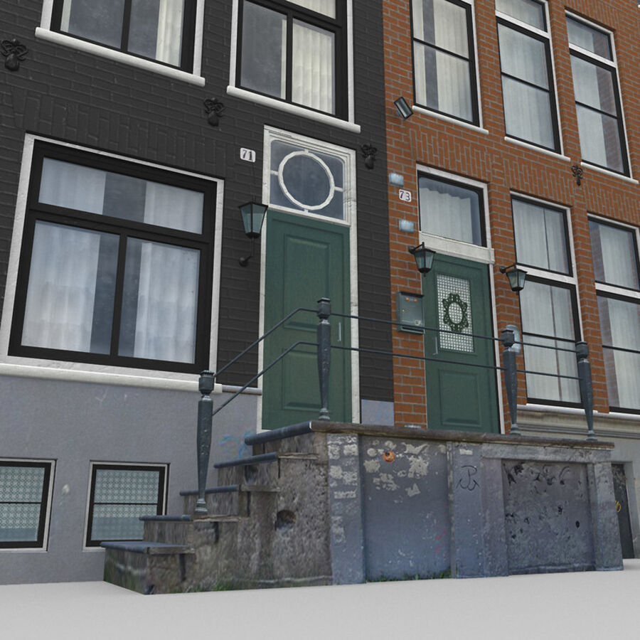 Amsterdam Street royalty-free 3d model - Preview no. 14