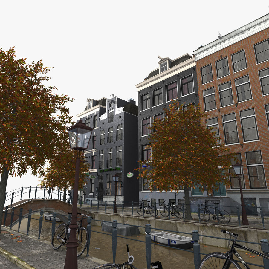 Amsterdam Street royalty-free 3d model - Preview no. 5
