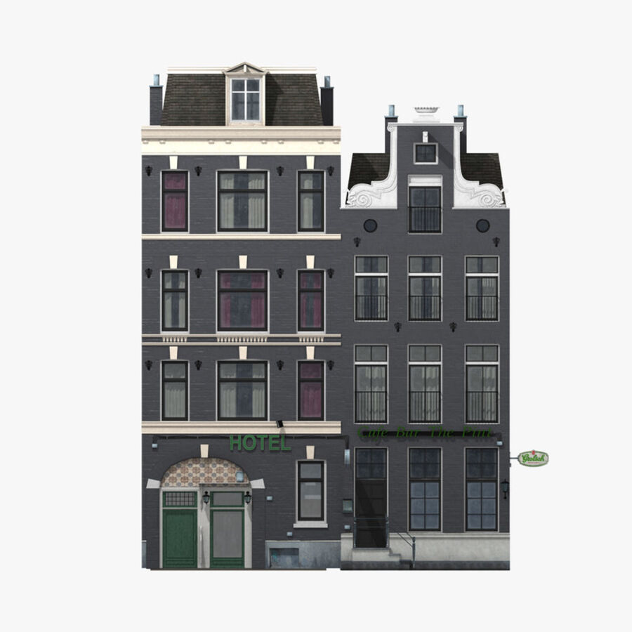 Amsterdam Street royalty-free 3d model - Preview no. 16