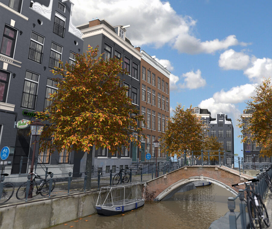Amsterdam Street royalty-free 3d model - Preview no. 1