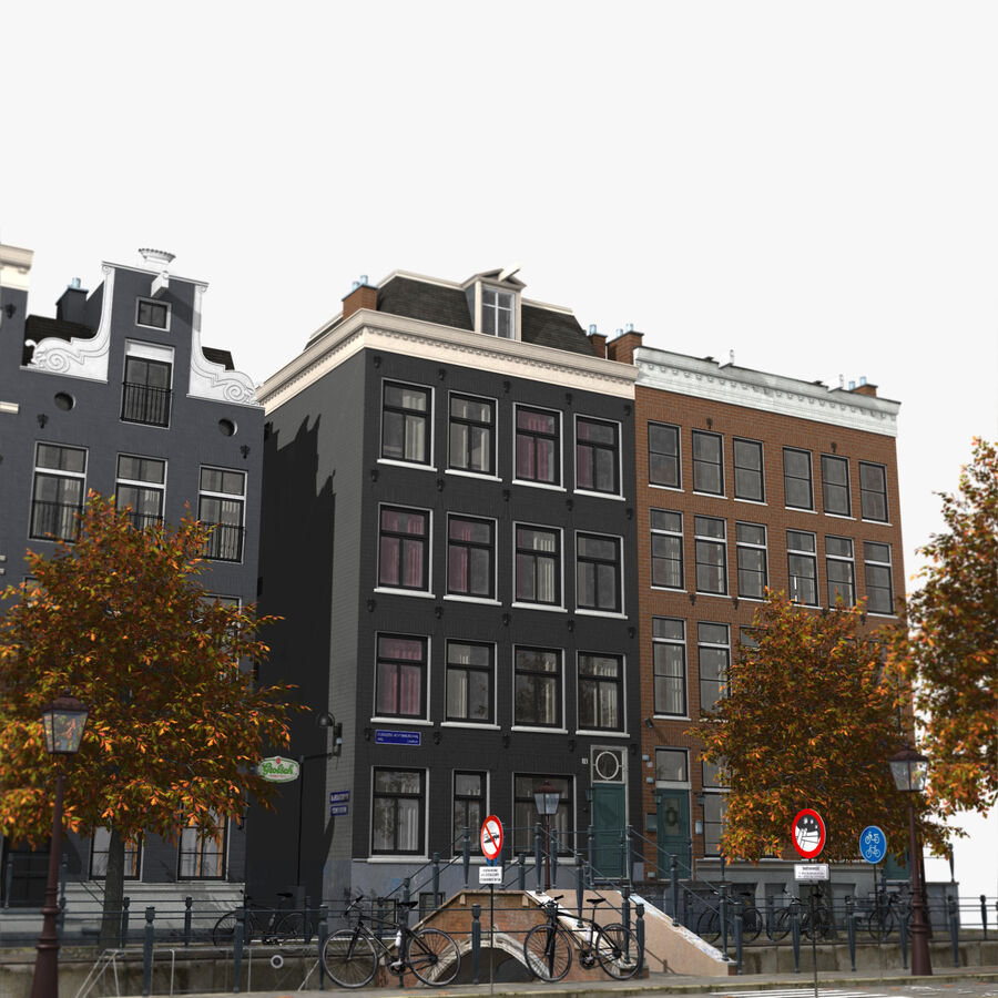 Amsterdam Street royalty-free 3d model - Preview no. 7