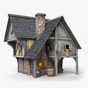 Forja de ferreiro medieval 3d model