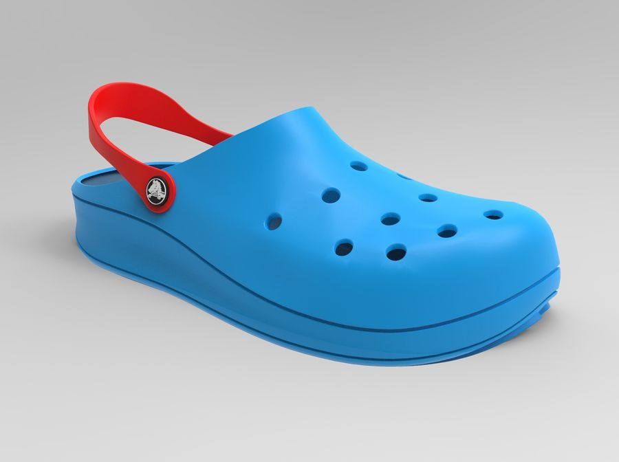 Crocs Shoes 3D model royalty-free 3d model - Preview no. 2