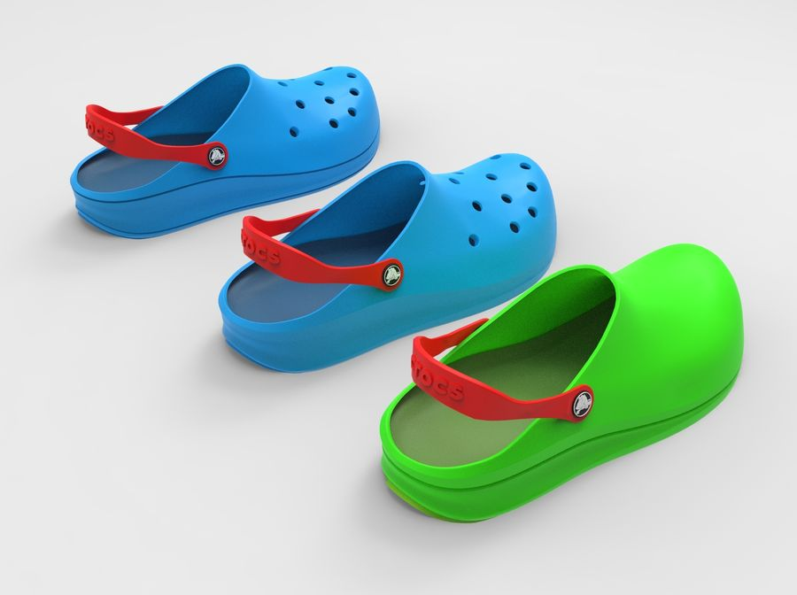 Crocs Shoes 3D model royalty-free 3d model - Preview no. 4