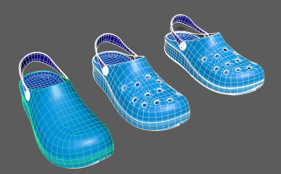 Crocs Shoes 3D model royalty-free 3d model - Preview no. 9