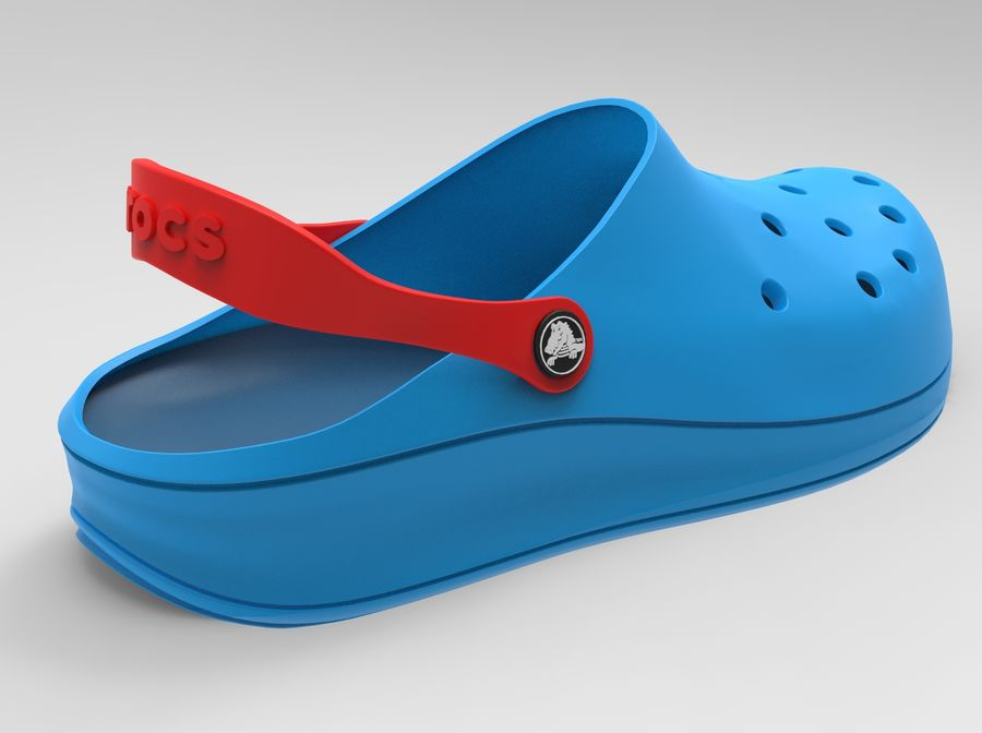 Crocs Shoes 3D model royalty-free 3d model - Preview no. 1