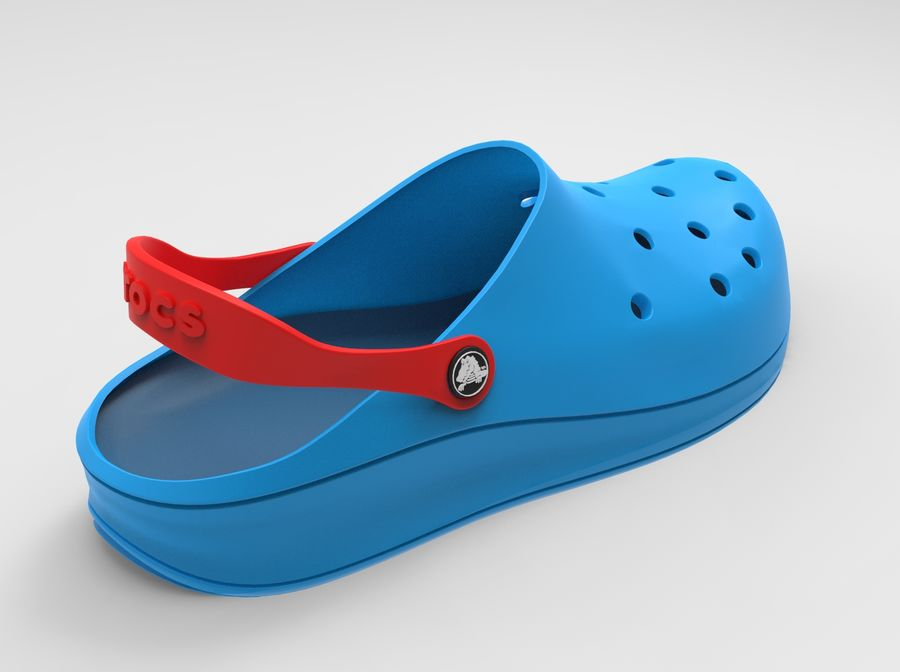 Crocs Shoes 3D model royalty-free 3d model - Preview no. 6