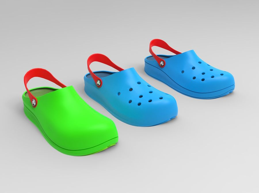 Crocs Shoes 3D model royalty-free 3d model - Preview no. 3