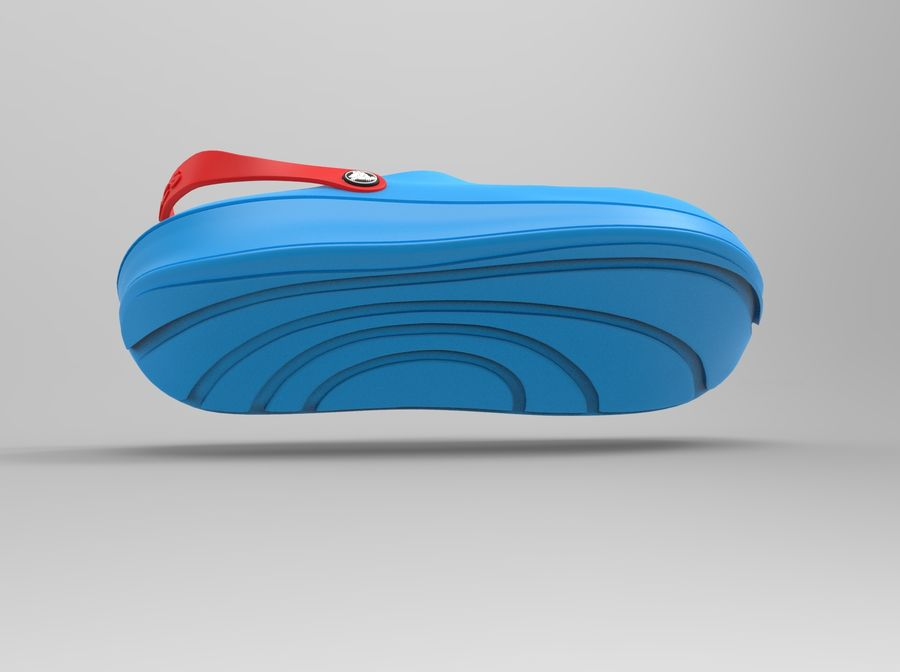 Crocs Shoes 3D model royalty-free 3d model - Preview no. 7