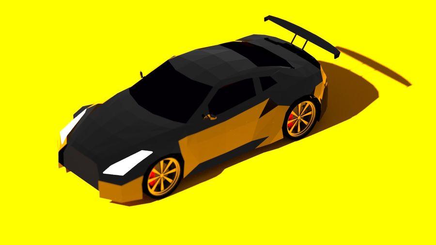Baixo poli Nissan Nismo royalty-free 3d model - Preview no. 5