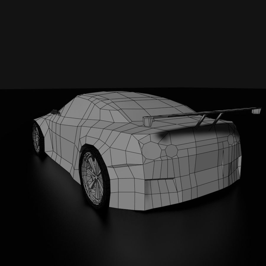Baixo poli Nissan Nismo royalty-free 3d model - Preview no. 8