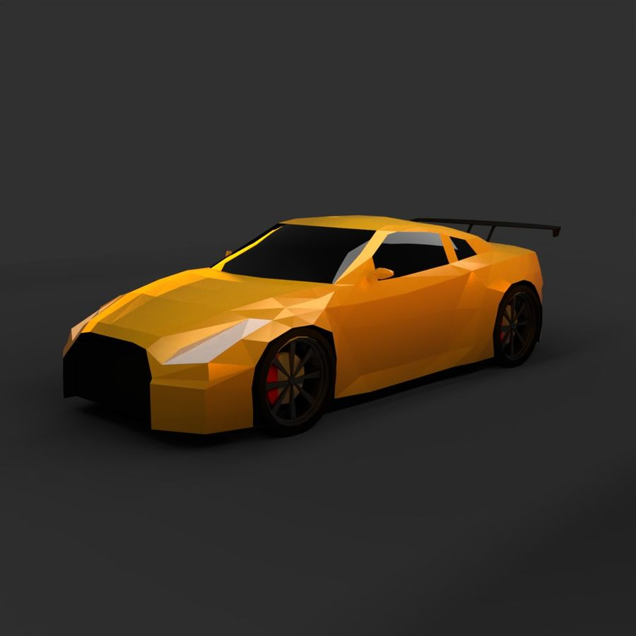Baixo poli Nissan Nismo royalty-free 3d model - Preview no. 1