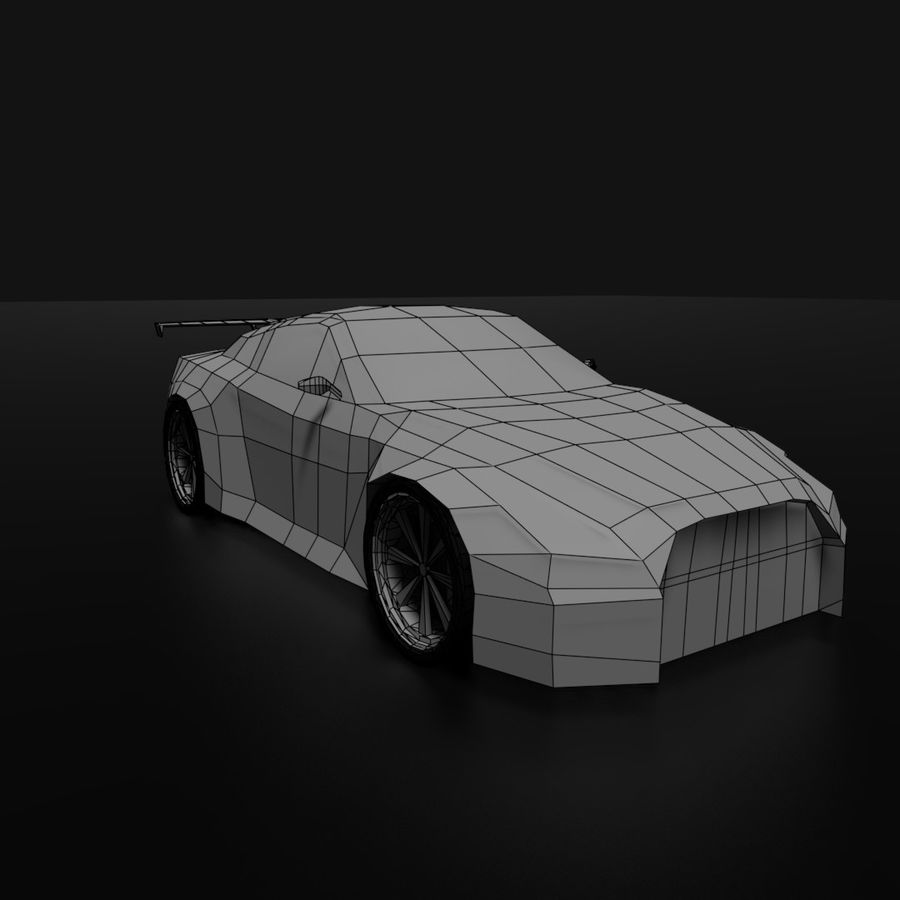 Låg poly Nissan Nismo royalty-free 3d model - Preview no. 7